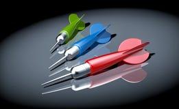 Tre frecce dei dardi nel punto di luce royalty illustrazione gratis