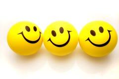 Tre fronti di smiley Fotografia Stock Libera da Diritti