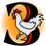 Tre galline francesi/ENV Immagine Stock Libera da Diritti