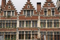 Tre gamla hus Royaltyfria Bilder