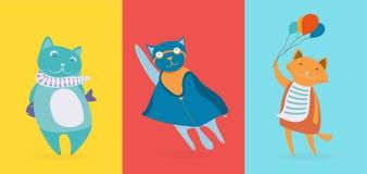 Tre gatti svegli piani royalty illustrazione gratis