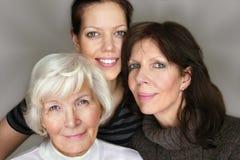Tre generazioni Fotografia Stock Libera da Diritti