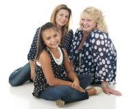 Tre generazioni di donne Immagini Stock
