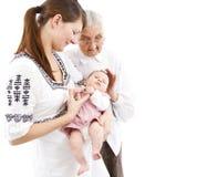 Tre generazioni Immagine Stock Libera da Diritti