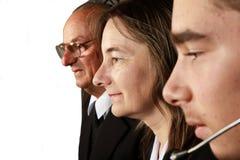 Tre generazioni a tempo insieme Immagini Stock Libere da Diritti
