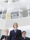 Tre genti di affari sicure Fotografia Stock