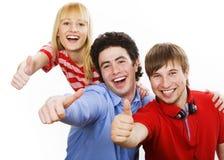Tre giovani adolescenti Immagini Stock