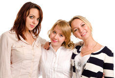 Tre giovani amici felici Immagine Stock