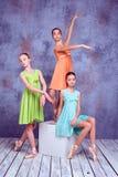 Tre giovani ballerine Immagine Stock Libera da Diritti