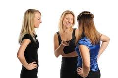 Tre giovani donne attraenti Fotografie Stock Libere da Diritti