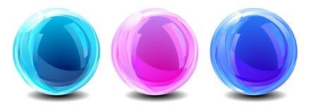 Tre globi astratti illustrazione vettoriale