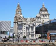 Tre gracerna, Liverpool Arkivbilder