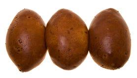 Tre grafici a torta cotti Fotografie Stock