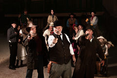 Tre Gunslingers ad ovest anziani Fotografie Stock Libere da Diritti