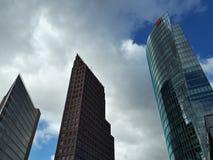 Tre höga torn i Berlin arkivbild