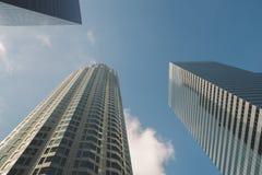 Tre högväxta byggnader för storstad arkivbild