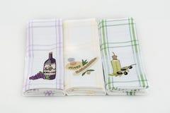 tre handdukar Fotografering för Bildbyråer