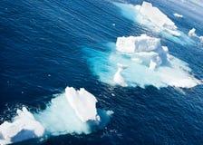 Tre iceberg Fotografia Stock