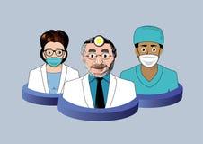 Tre icone del dentista Fotografia Stock Libera da Diritti