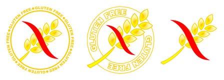 Il glutine libera le icone Immagine Stock