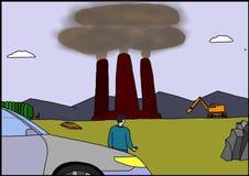 Tre imbuti con fumo illustrazione vettoriale