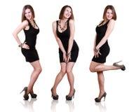 Tre immagini di posizione della bellezza giovane Immagine Stock Libera da Diritti