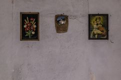 Tre immagini sulla parete Immagini Stock Libere da Diritti
