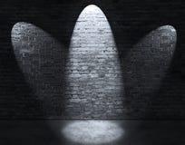 Tre indicatori luminosi del punto fotografia stock