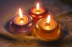 Tre indicatori luminosi della candela Fotografia Stock Libera da Diritti