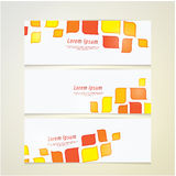 Tre insegne di vettore nella retro progettazione. Molto spazio per il vostro testo o royalty illustrazione gratis