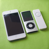 Tre iPod Royaltyfri Bild
