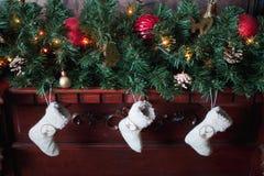 Tre julsockor Royaltyfri Fotografi