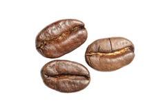 Tre kaffebönor Royaltyfria Bilder