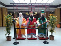Tre kinesiska kloka män Arkivbild