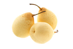 Tre kinesiska päron Fotografering för Bildbyråer