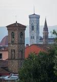 Tre Klocka torn av Florence royaltyfri fotografi