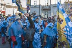 Tre kloka män ståtar 2015 Fotografering för Bildbyråer