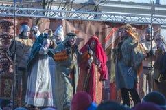Tre kloka män ståtar 2015 Arkivbilder