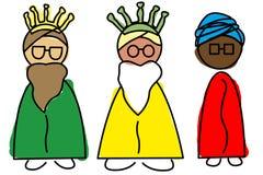 Tre kloka manar Royaltyfri Bild