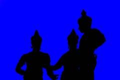 Tre konungar i Chiang Mai Arkivbild