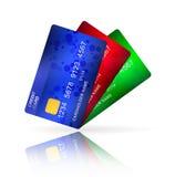 Grupp av kreditkortar arkivfoton
