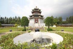 Tre kungariken parkerar, Pattaya Thailand arkivbilder
