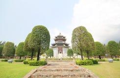 Tre kungariken parkerar, Pattaya Thailand arkivfoton