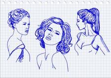 Tre kvinnor Arkivbilder