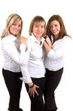tre kvinnor Fotografering för Bildbyråer