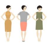 tre kvinnor Arkivfoto