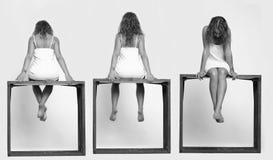 tre kvinnor royaltyfri foto