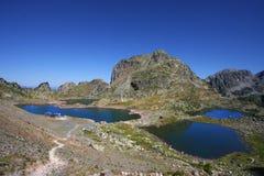 Tre laghi della montagna Fotografia Stock