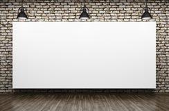 Tre lampor och tolkning för bakgrund 3d för affisch inre stock illustrationer