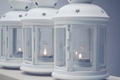 Tre lanterne sulla Tabella fotografia stock